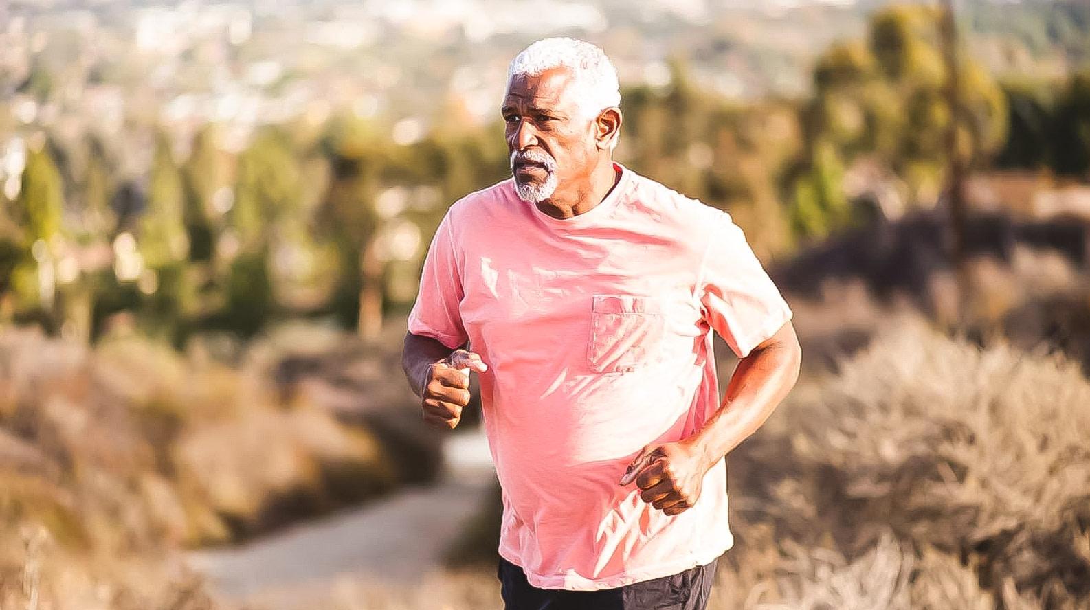 Ageless male running